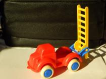 Jucarie masina de pompieri Viking Toys Suedia cu scara mobil