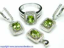 Set bijuterii argint rodiat zultanit Model ST149321