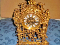 6419-Carcasa Ceas masa stil Renastere cariatide cu Fauni.