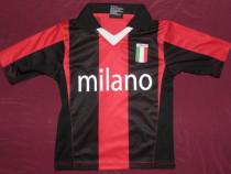 Tricou fotbal Milano - Italia,marimea 104,de copii,ca nou