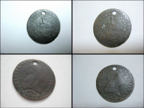 Moneda Austria-1kreutzer 1812-gaura- bronz, diam 2.5 cm.
