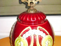 7011A-Majolica veche Lampa ArtNouveau anii 1900.