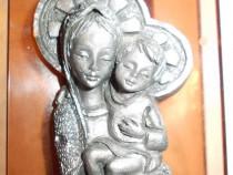 Statueta Maica Domnului cu pruncul-schimb