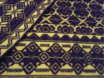 Cuvertura lana,tesuta manual,maro-galben,208x148 cm