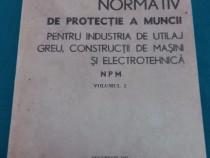Normativ de protecție a muncii pentru industria de utilaj gr