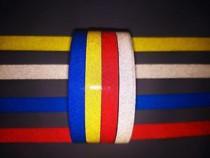 Banda reflectorizanta albastra/galbena/alba 10mm x 45.7m