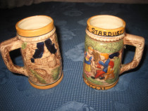 963-Halbe Cafe Stardust mici pereche rustice ceramica.