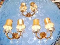 7365-Set 3 Aplice electrice sticla gen cristal cu palarii.