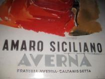 Reclama tabla Vintage bauturi Liquer Amaro Siciliano.