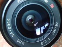 Obiectiv tokina 28 mm, f2.8, made in japan.