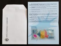 Bancnotă UNC de 2000 de lei cu eclipsa solară din anul 1999