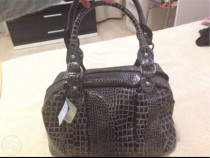 Geanta Paolo Cane din piele,snake print,made in Italy,noua