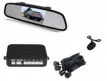 Senzori parcare + camera marsalier cu display in oglinda 4,3