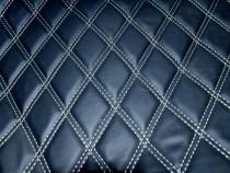 Material romb tapiterie negru / cusatura gri