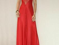 Rochie rosie cu dantela, COD O.29