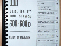 Manual de reparatii fiat 600 di 600 d - copie xerox -