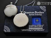 Pandantiv Scalar Cuantic din Cenusa Vulcanica si Turmalina