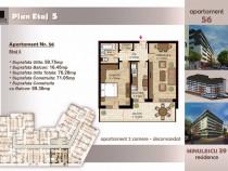 Apartament 2 camere et 5/6 cu lift,metrou timpuri noi, 76 mp