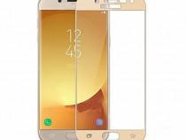 Samsung J3 J5 J7 2017 - Folie Sticla Full Size Neagra, Aurie