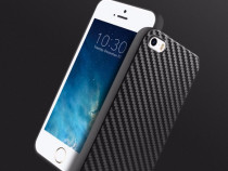 Husa slim tpu moale, hoco iphone 5 / 5s / se, aspect carbon