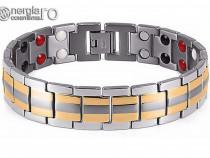 Brăţară Magnetică din TITAN placată aur de 18k - cod BRA010