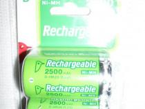 Acumulatori r20 (d), 2500mah, 1,2v, noi, in pachete sigilate