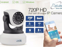 Camera IP Wireless / WIFI supraveghere rotativa cu alarma HD