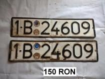 Seturi numere ( placute ) inmatriculare romanesti, vechi
