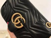 Genti Gucci/italia/new model/logo metalic auriu