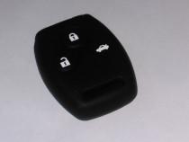 Husa cheie auto HONDA Accord Civic, carcasa silicon 3 butoan