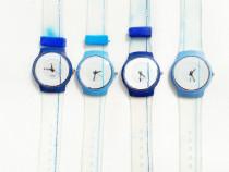 Ceas electronic Swatch albastru curea plastic