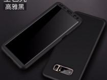 Samsung Note 8 Husa 360 Plastic Fata + Spate + Folie Silicon