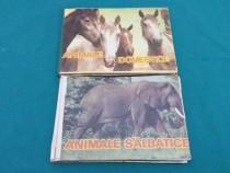 2 cărți copii: animale sălbatice, animale domestice/ intrepr