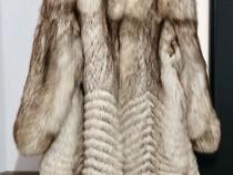 Blana naturală argintie din vulpe polara