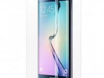Samsung S6 Edge - Folie Clara Curbata Din Silicon Fata Spate
