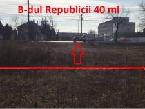 Teren intravilan B-dul Republicii cartier Albert!!! 472 mp