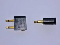 2x Adaptor 2x jack tata mono la 1 jack mama 3.5mm stereo