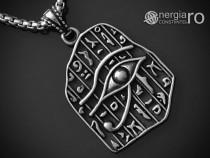 Pandantiv ochiul ra / horus, amuletă, talisman, inox