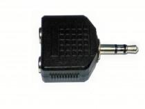 Adaptor Jack audio stereo 2 x 3.5mm, tip mama la Jack stereo