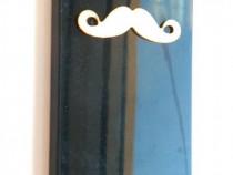 Husa protectie iPhone 5C, carcasa spate telefon, model musta