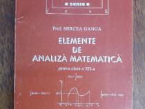 Elemente de analiza matematica Cl. XII - M. Ganga / R3P4S
