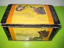 Eduscho model china cutie veche metal ceai-cafea.
