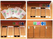 Folii sticla iphone 5s/6s/7/8/x full screen curbate 3D 4D