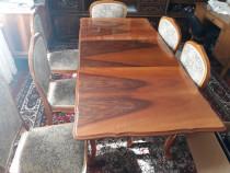 Mobila Madrigal (sufragerie) lemn masiv 6 elemente