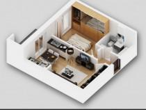 Apartament 2 camere tip 3 Titan 4 residence