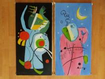 Doua Tablouri pictura in ulei
