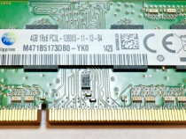 Ram laptop Samsung 4GB PC3-12800 DDR3 1600 M471B5173DB0 PC3L