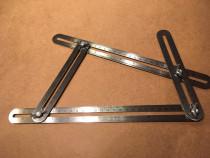 Rigla echer de masurare multi-unghi cu 4 laturi de masurare