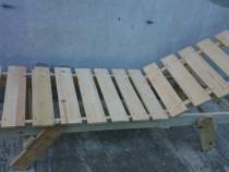 Sezlong lemn brad