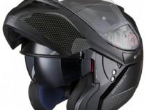 Casca moto flip up Black Optimus - ochelari soare - negru